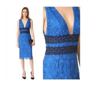 DVF Blue Lace Cocktail Dress NWT Sz 10